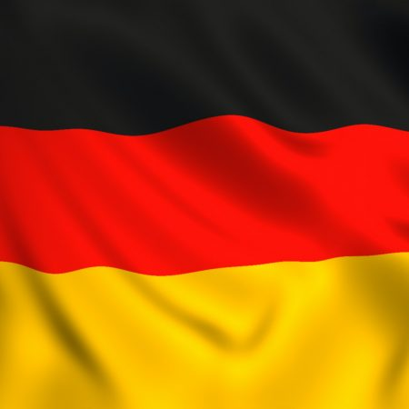 German flag waving symbol of Germany